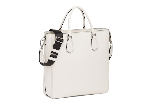 Church's  St James Leather Tote Bag Chalk white
