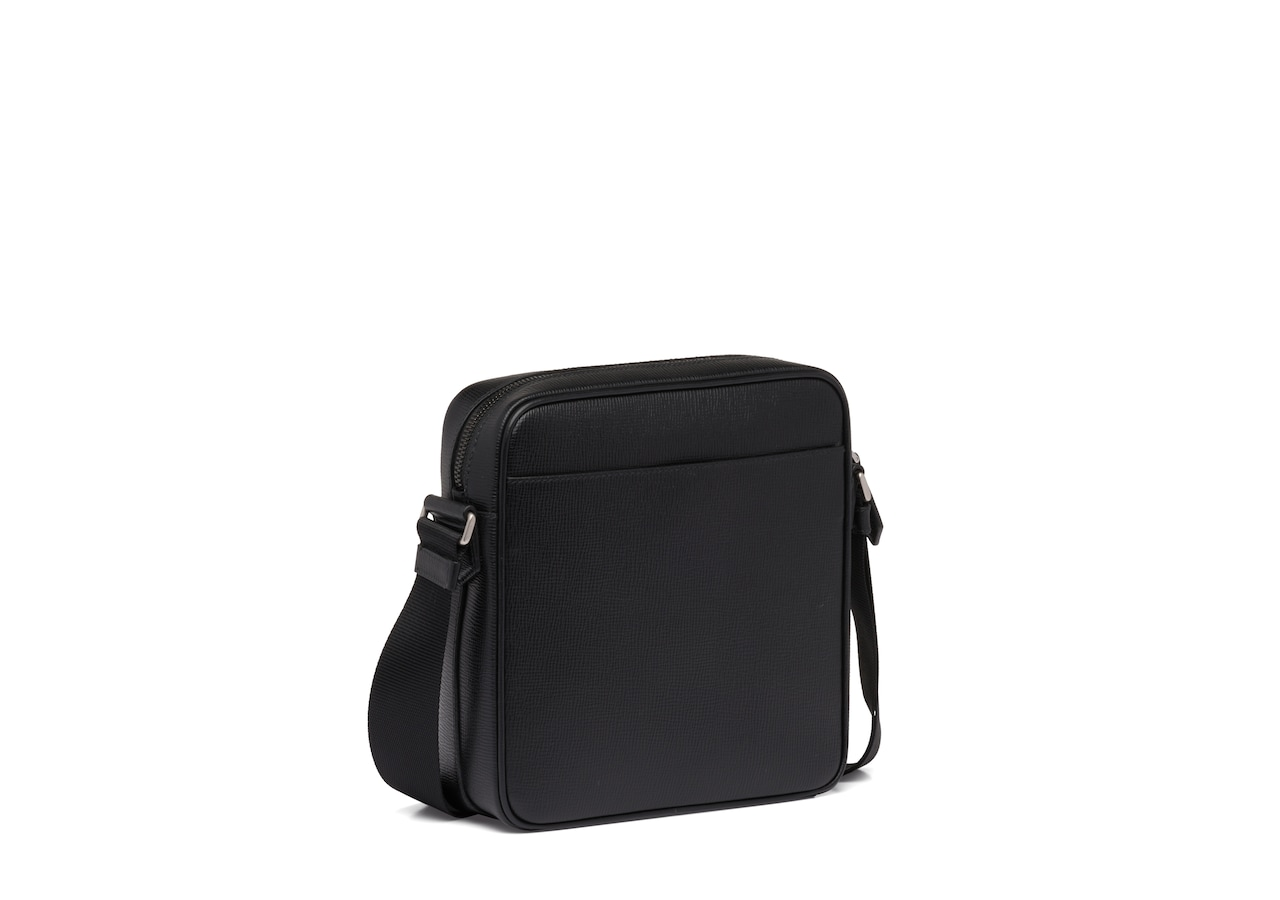 Chilston Church's St James Leather Crossbody Bag Black