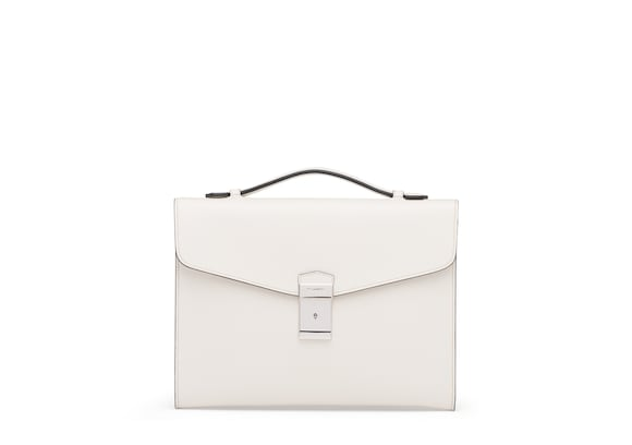 Church's Crawford St James Leather Document Holder Chalk white