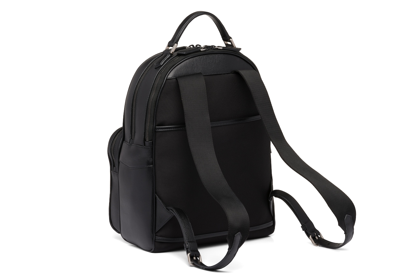 Waterford Church's St James Leather Tech Backpack Black