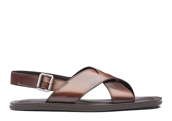 Church's  Decò Leather Open Sandal Burnt