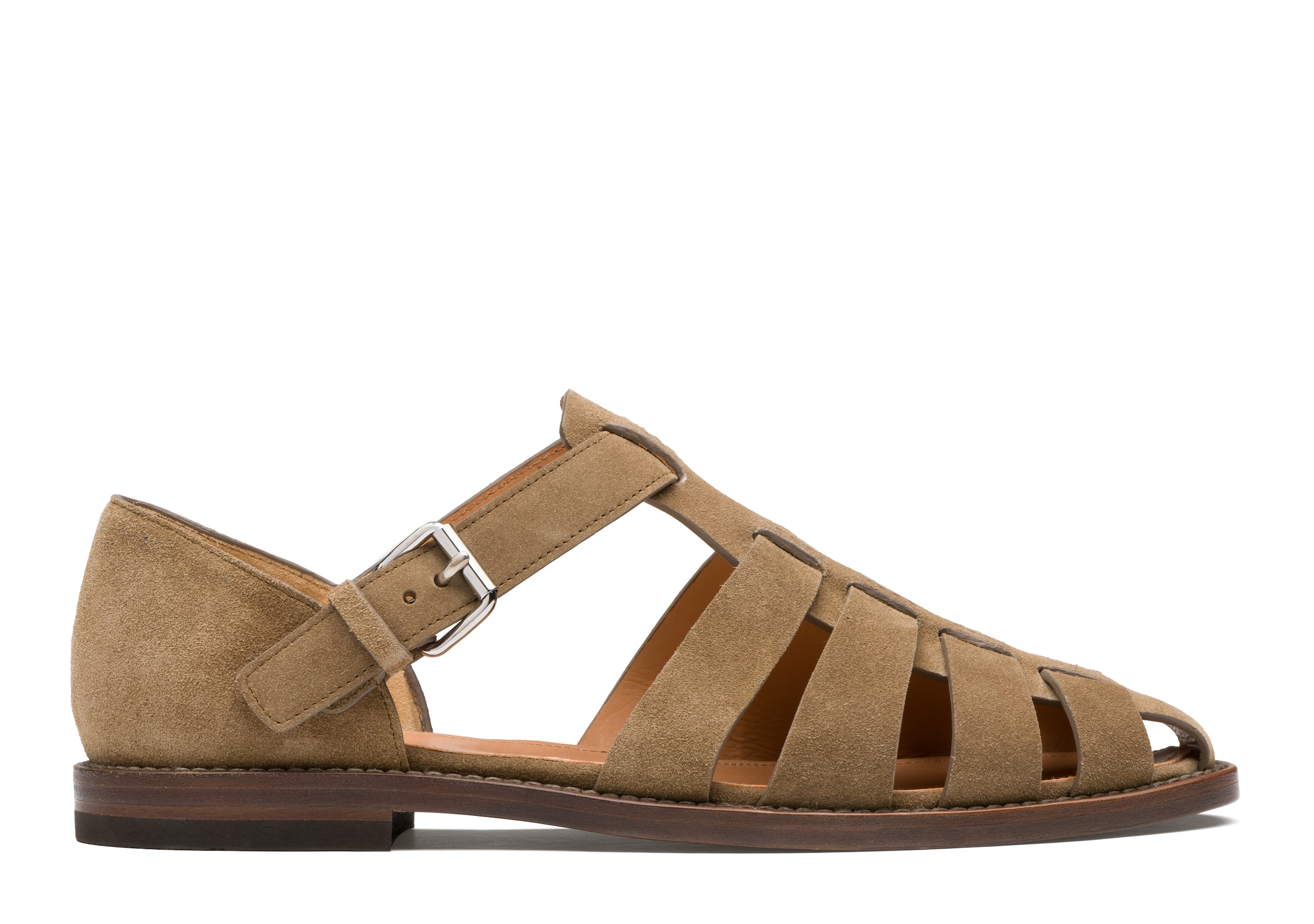 Fisherman Church's Suede Sandal Brown