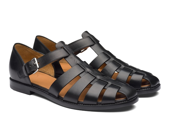 Church's Fisherman Nevada Leather Sandal Black