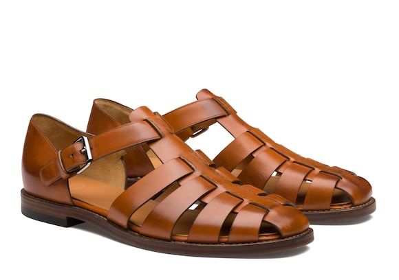 Church's Fisherman Nevada Leather Sandal Walnut