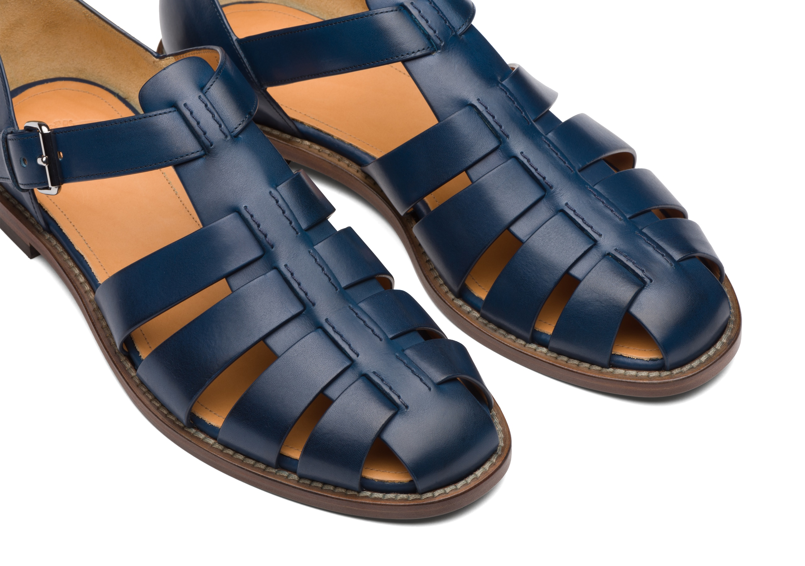 Fisherman Church's Nevada Leather Sandal Blue