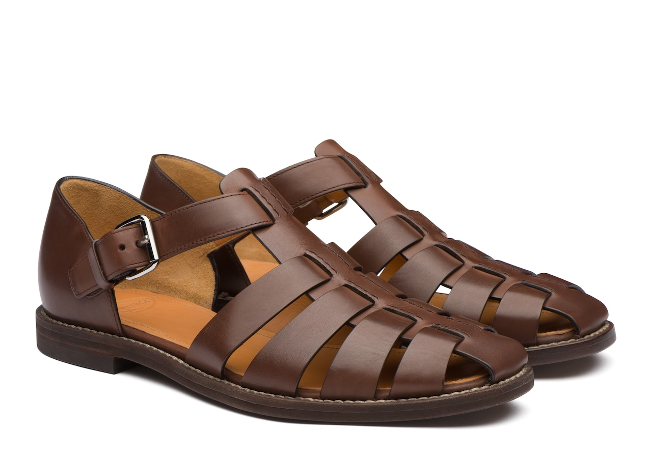 Fisherman Church's Nevada Leather Sandal Brown