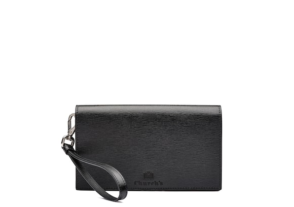 Church's true St James Leather Phone Holder with Wrist Strap Black