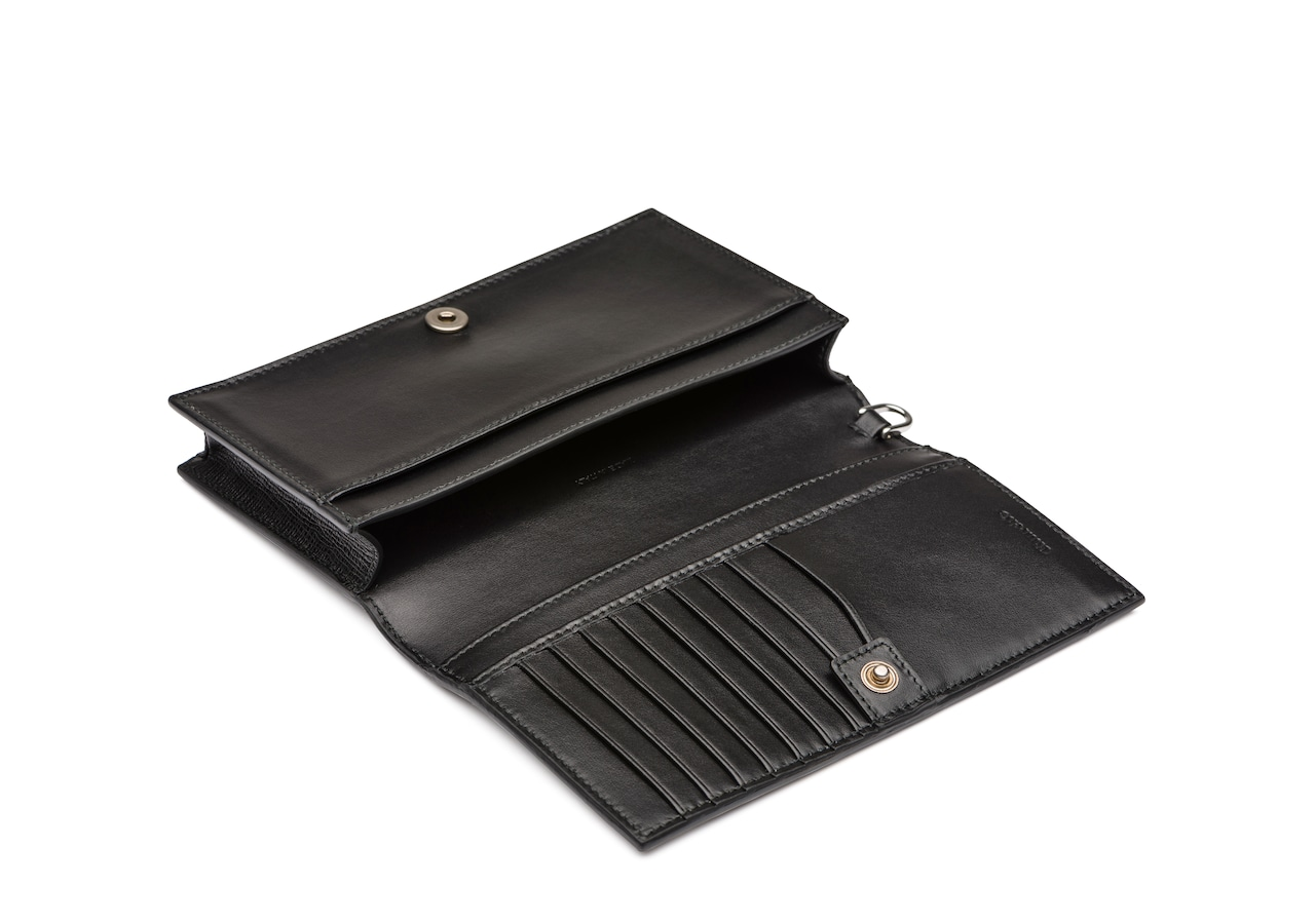Phone card holder Church's St James Leather Phone Holder with Wrist Strap Black